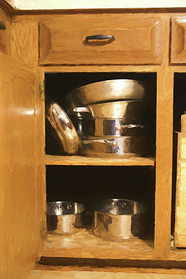 Photograph - Pots And Pans - Cupboard by Nikolyn McDonald