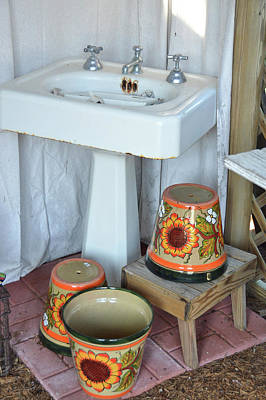 Pottery Sinks Photograph - Pots And Pans by JAMART Photography