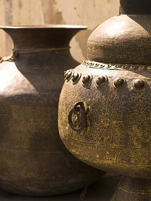 Hand Crafted Photograph - Pots, Jaipur, India by Keith Levit