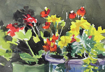 Painting - Pots Of Flowers by Kris Parins