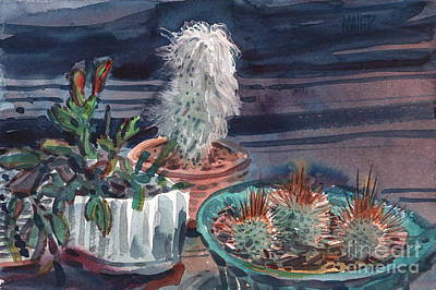Painting - Potted Cactus by Donald Maier
