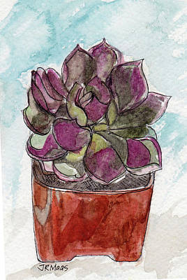 Painting - Potted Cactus by Julie Maas