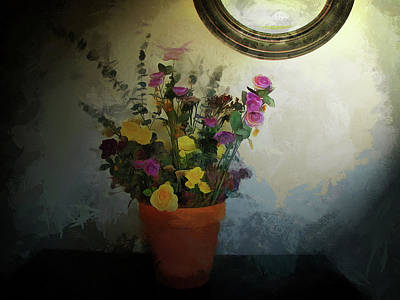 Photograph - Potted Flowers 2 by Cedric Hampton