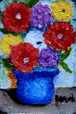 Painting - Potted Flowers by Gregory Dorosh