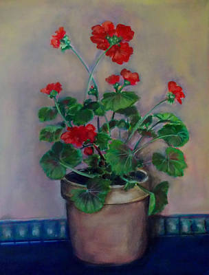 Painting - Potted Geranium by Irena Mohr