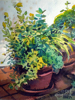 Potted Herbs Art Print by Donald Maier