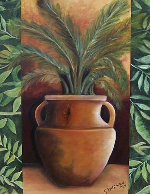 Painting - Potted Palm by Susan Dehlinger