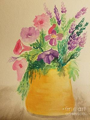 Pai Painting - Potted Petunia Mix by Maria Urso