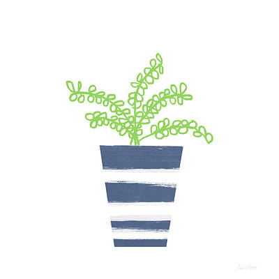 Potted Plant 1- Art By Linda Woods Art Print by Linda Woods