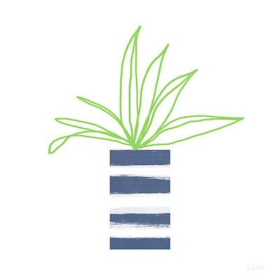 Potted Plant 2- Art By Linda Woods Art Print by Linda Woods