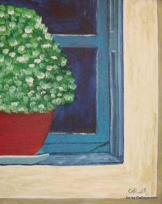 Painting - Potted Plant by Calliope Thomas