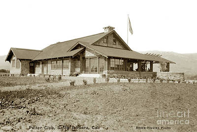 Photograph - Potter Club, Santa Barbara, Calif. Circa 1915 by California Views Archives Mr Pat Hathaway Archives