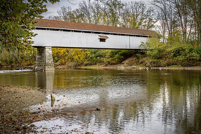 Photograph - Potter Covered Bridge by Jack R Perry