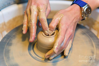 Master Potter Photograph - Pottering by Dvoevnore Photo