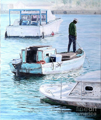 Painting - Potter's Cay Blues by Roshanne Minnis-Eyma