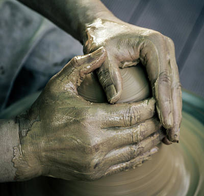 Hand Crafted Photograph - Potter's Hand by Hyuntae Kim