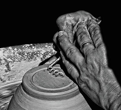 Photograph - Potters Hands by Stuart Harrison