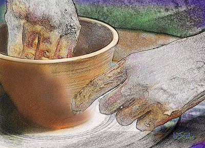 Digital Art - Potter's Hands by William Sargent
