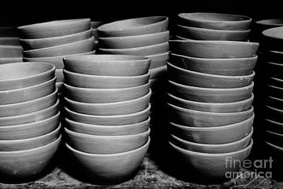 Pottery Bowls Art Print by Gaspar Avila