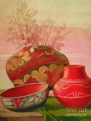 Painting - Pottery by Judy Palkimas