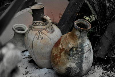 Art Print featuring the photograph Pottery by Laura DAddona