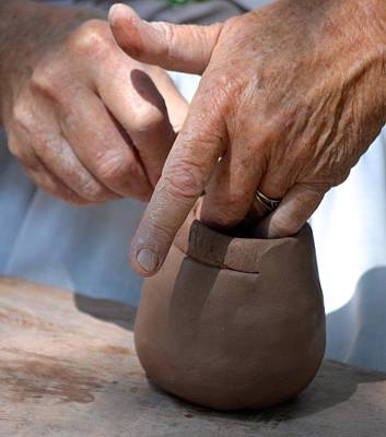 Hands Photograph - Pottery Maker by Richard Bryce and Family