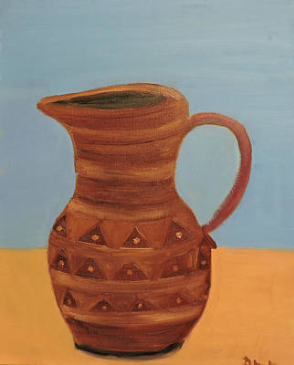 Colored Pencils - Pottery Pitcher by Della May Roberts