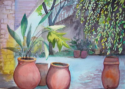 Painting - Pottery Place by AnnE Dentler