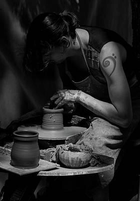 Photograph - Pottery Sculptor by Athena Mckinzie