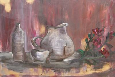 Art Print featuring the painting Pottery by Sladjana Lazarevic
