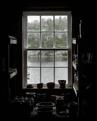 Photograph - Pottery Studio Window On The River In Sherbrooke Village Nova Scotia by Art Whitton