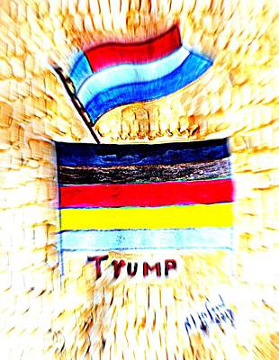 Painting - Potus For All Black Brown, Red, Yellow, White by Richard W Linford