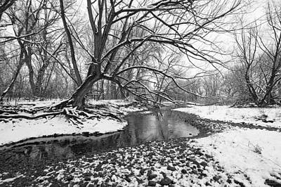 White River Photograph - Poudre Black And White by James Steele