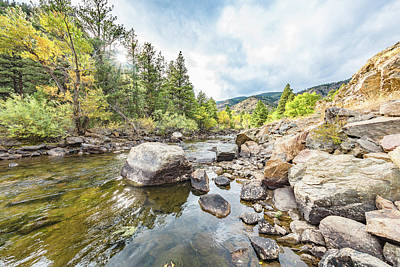 Photograph - Poudre River In The Fall by Jennifer Grossnickle