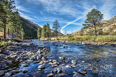 Fort Collins Photograph - Poudre River Rocks by Keith Ducker