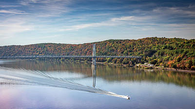 Photograph - Poughkeepsie Autumn River #2 by Framing Places