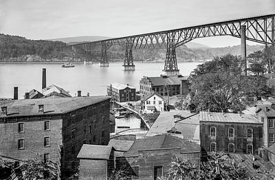 Photograph - Poughkeepsie Waterfront in 1903 by The Hudson Valley
