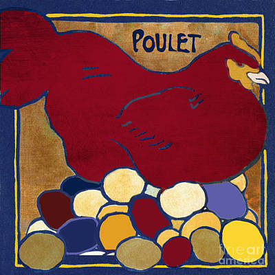 French Signs Painting - Poulet II by Mindy Sommers
