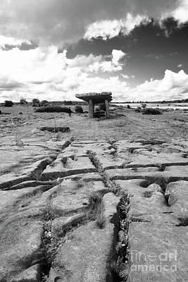 Photograph - Poulnabrone Dolmen Ireland Bw by Rudi Prott