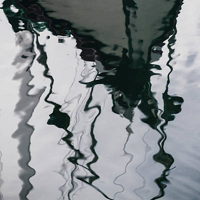 Photograph - Poulsbo Boat Reflection by Bud Simpson