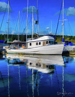 Painting - Poulsbo Washington Waterfront 02 by Wally Hampton