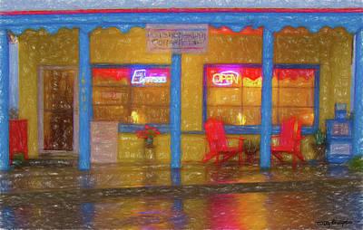 Digital Art - Poulsbohemian - Wet Night by Wally Hampton