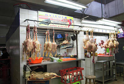 Digital Art - Poultry Market by Carol Ailles