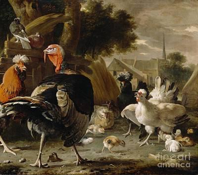 Poultry Yard Art Print