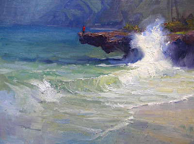 Haleiwa Painting - Pounders II by Richard Robinson