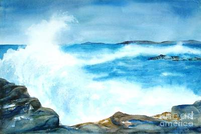 Painting - Pounding Surf by Diane Kirk