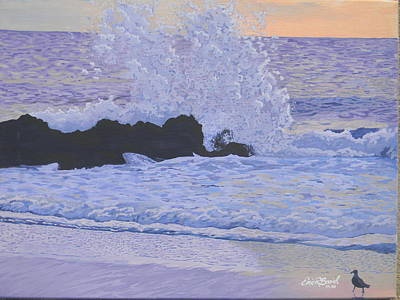 Pounding Surf Art Print by Eric Barich