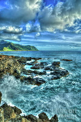 Photograph - Pounding Surf Kaena Point State Park Oahu Hawaii Art by Reid Callaway