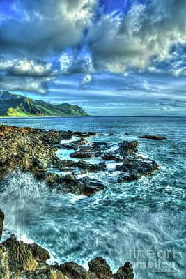 Photograph - Pounding Surf Kaena Point State Park Oahu Hawaii Art by Reid Callaway