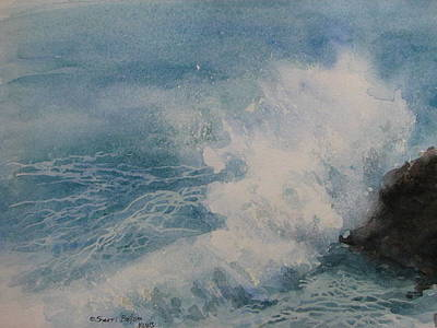 Painting - Pounding Surf by Sherri Bails